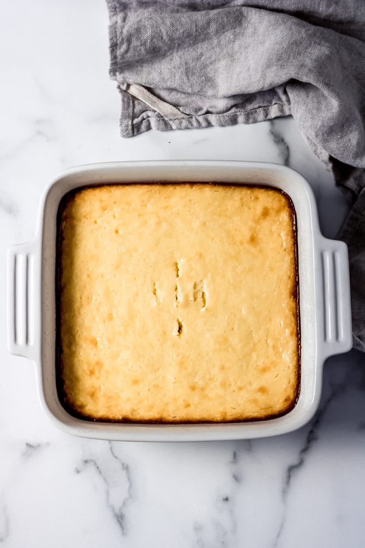 a baked dish of gluten-free lemon bars