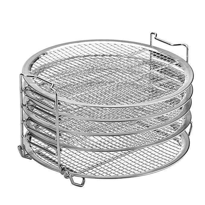 Dehydrator Stand For Ninja Foodi Accesories, 6.5 qt & 8 qt, Food Grade Stainless Steel (6.5&8)