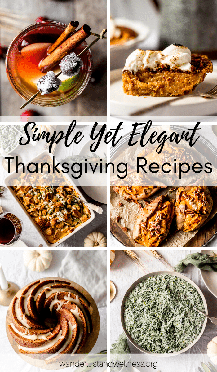 a collage of Thanksgiving recipes