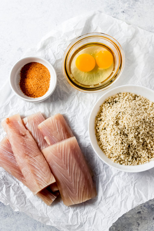 ingredients to make air fried Mahi Mahi