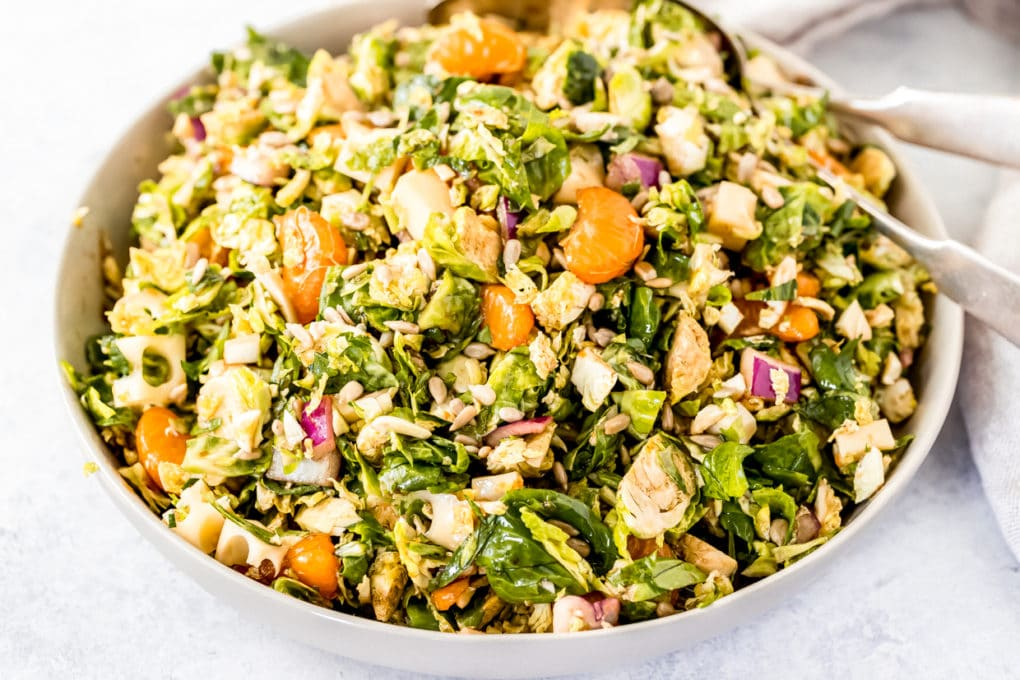 a tangy brussel sprout salad