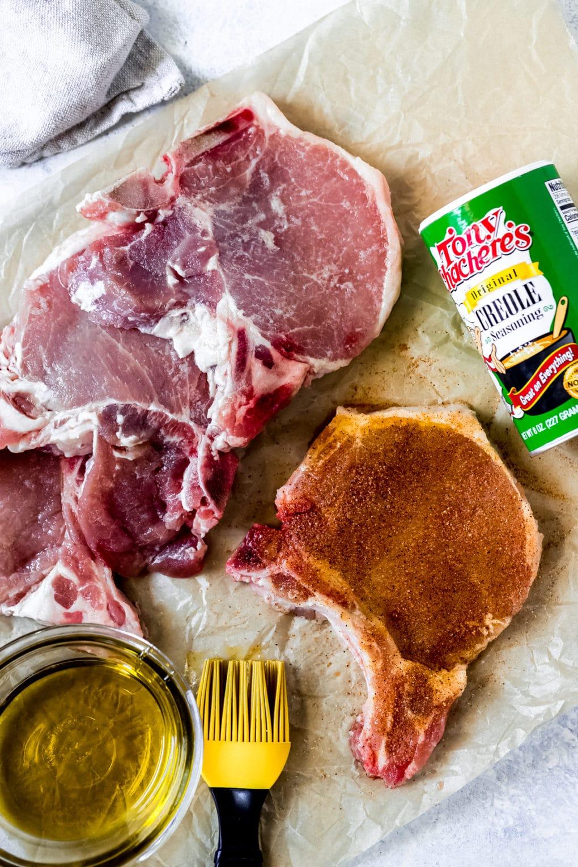 ingredients to make cajun air fryer pork chops