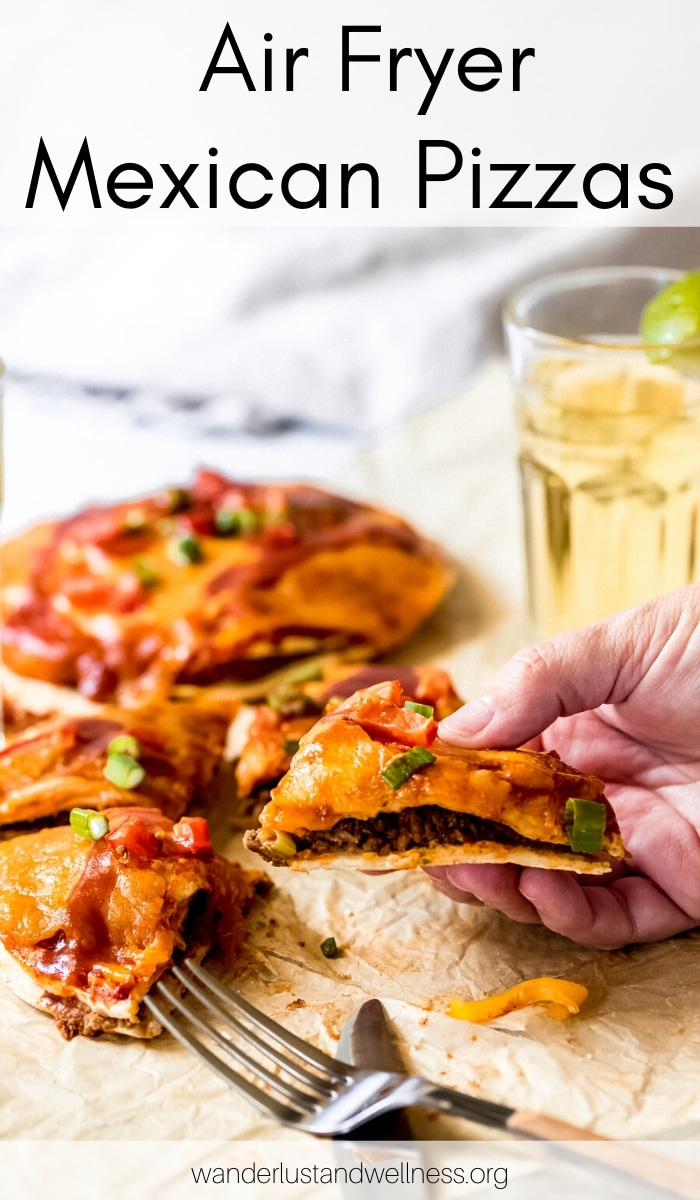 Air Fryer Mexican Pizzas