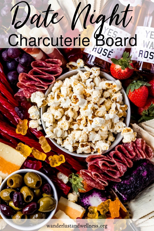 a date night charcuterie board platter