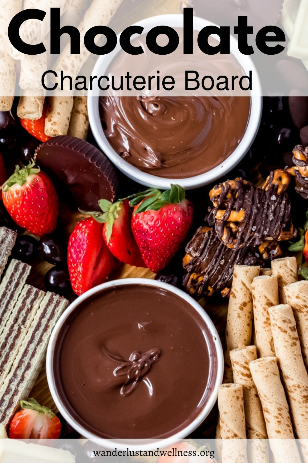 a chocolate charcuterie board