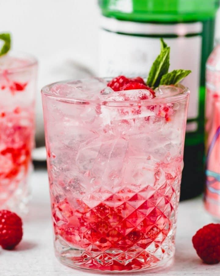 a razz cranberry La Croix cocktail