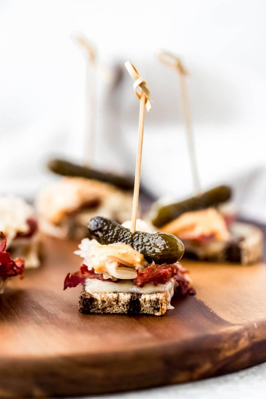 Mini Reuben Party Appetizer
