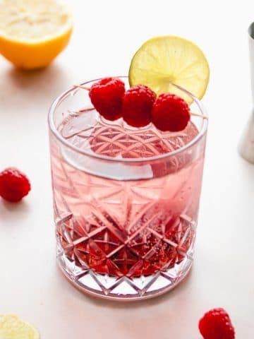 a berry La Croix cocktail