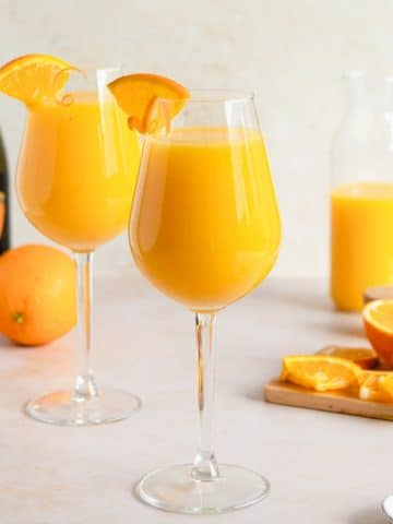glasses of classic mimosa