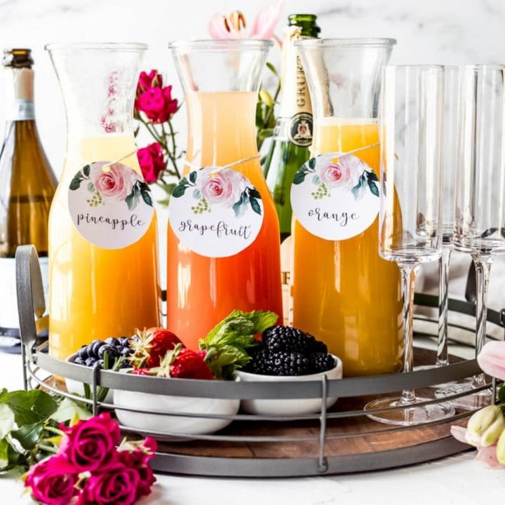 a mimosa board tray