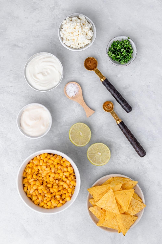 ingredients to make Mexican Street Corn Dip