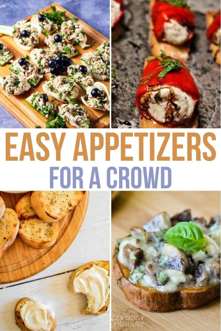 a collage of easy appetizers