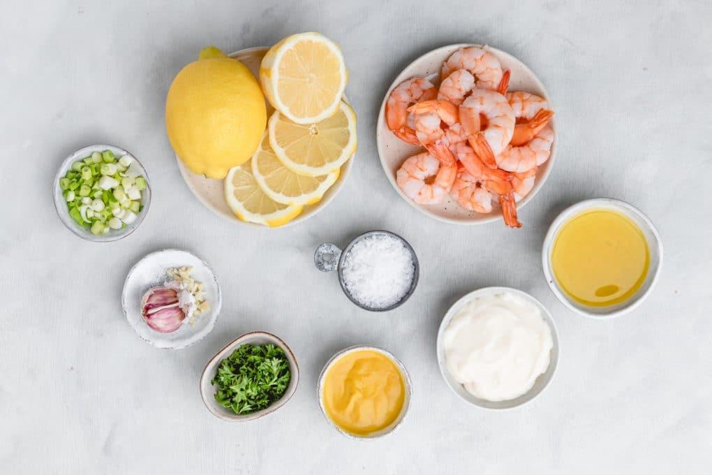 ingredients to make shrimp dijon appetizer