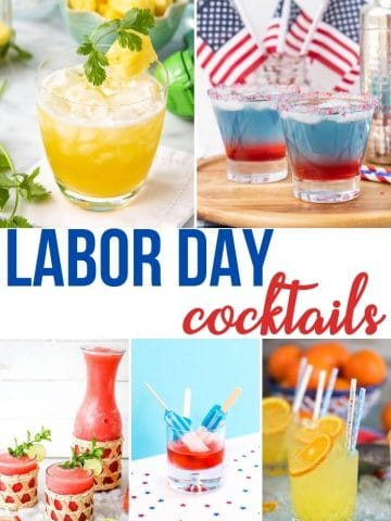 a pinnable image of Labor Day Cocktails