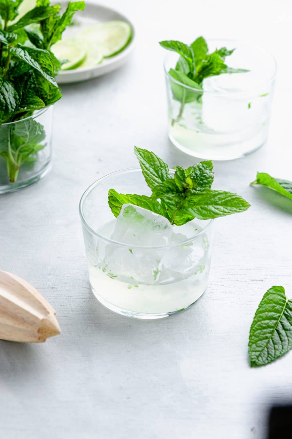 ingredients to make lime seltzer cocktail