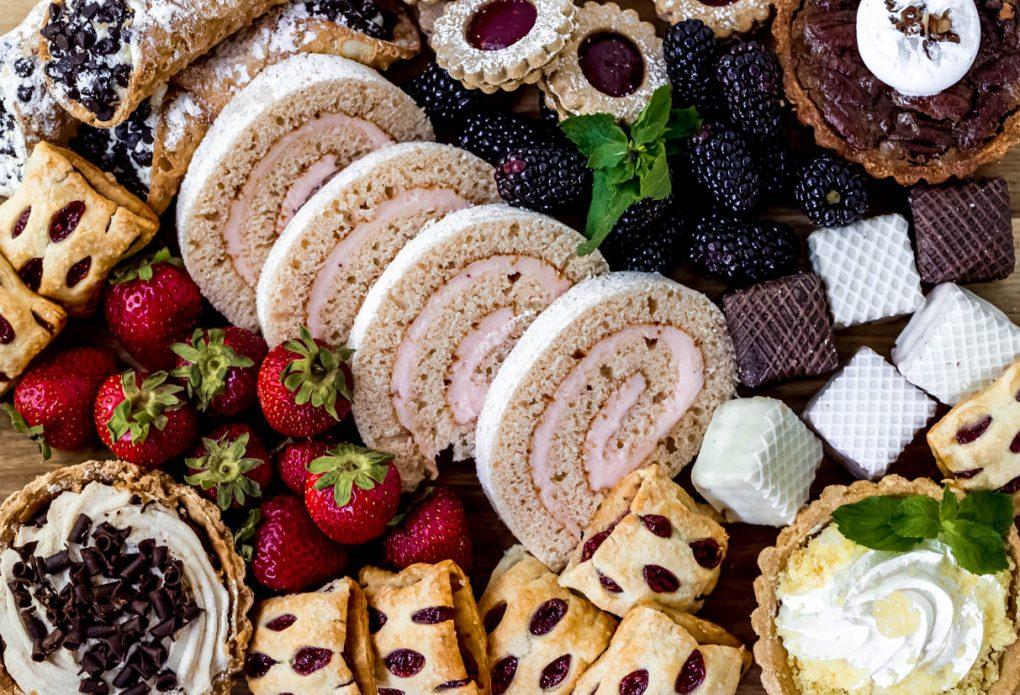 desserts on a graze board