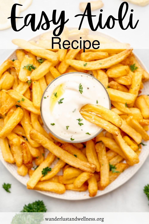 pinnable image for easy aioli recipe