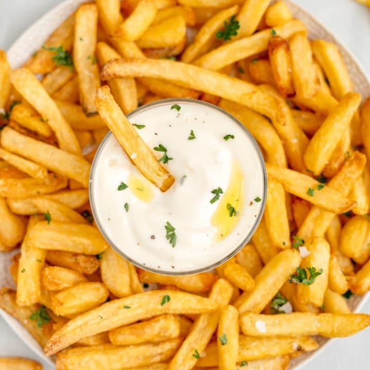 fries and easy aioli recipe