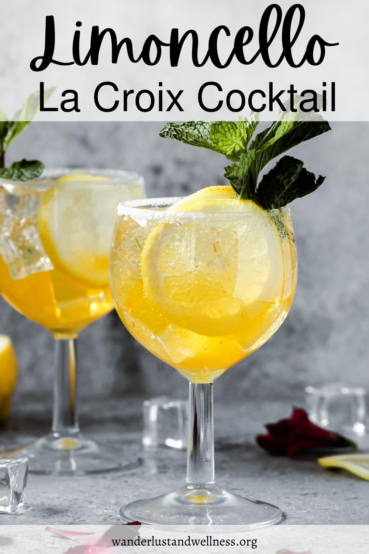 pinnable image of Limoncello La Croix Cocktail