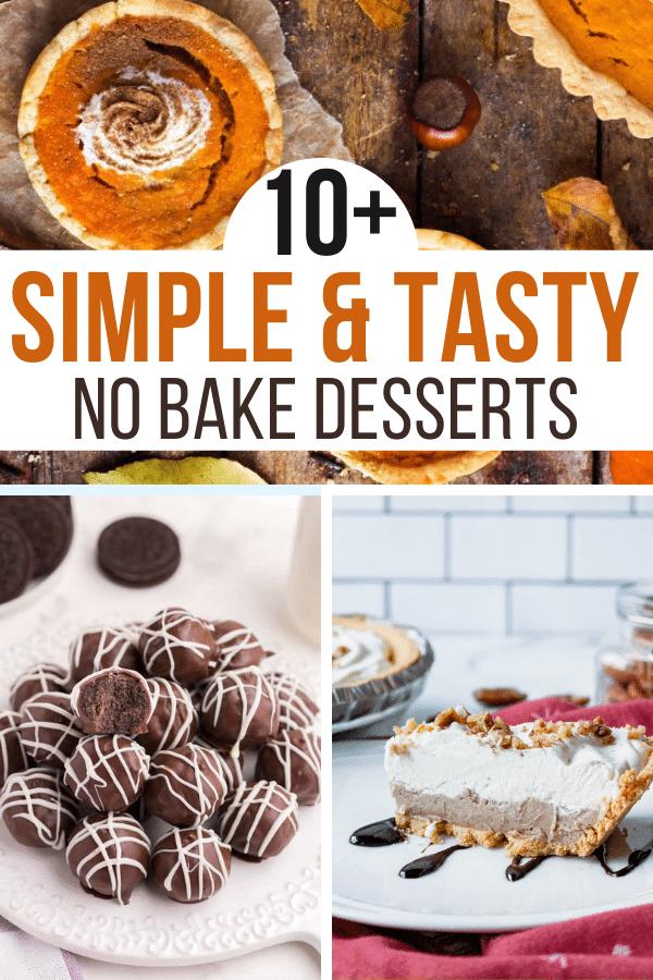 easy no bake fall desserts pin
